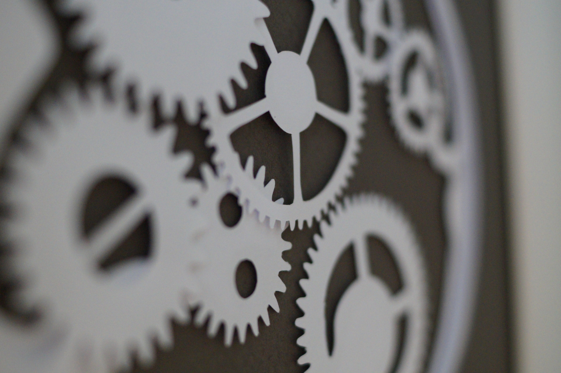 Cogs Layered Papercut